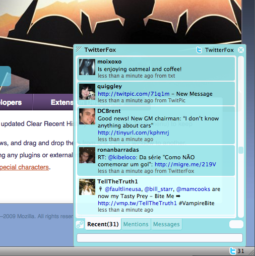 TwitterFox Screenshot